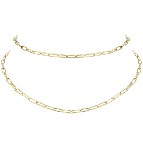 Yellow Gold Plated Double Mini Marcia Choker
