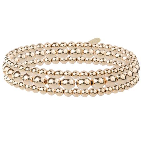 Set of 3 14K Gold Bracelets