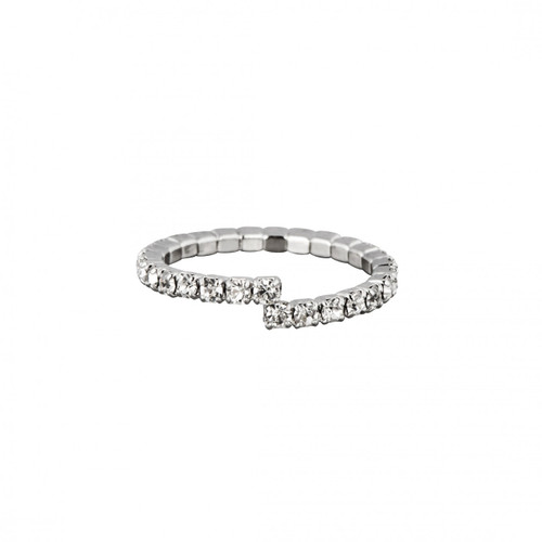 Rhodium Plated Single Stretch Eternity Band
