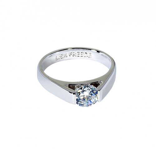 Rhodium Plated Paige Ring