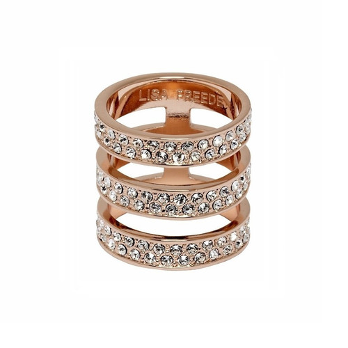Rose Gold Plated Crystal Brooklyn Ring