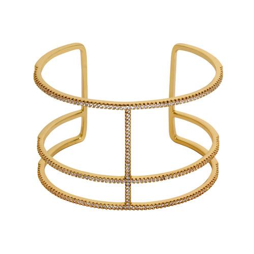 Yellow Gold Plated Roman Cuff