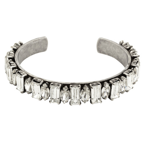 Antique Rhodium Plated Kay Cuff