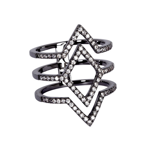 Gunmetal Plated Aliza Ring