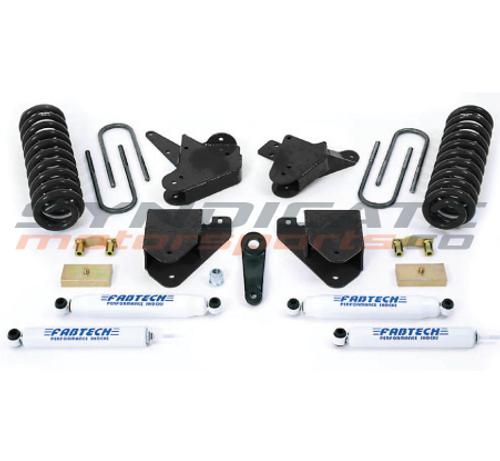 "FABTECH - 1999-00 Ford F250/F350 W/ Gas 2WD 4"" Basic System W/ Performance Shocks -  K2093"