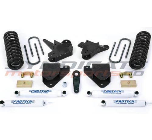 "FABTECH - 2001-04 Ford F250/F350 2WD 4 "" Basic System W/ Performance Shocks - K2094"