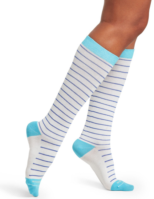Skinny Stripe Compression Knee High Sock