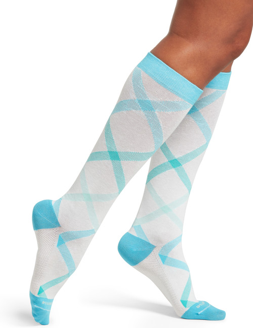 Ombre Argyle Compression Knee High 2 Pair Pack