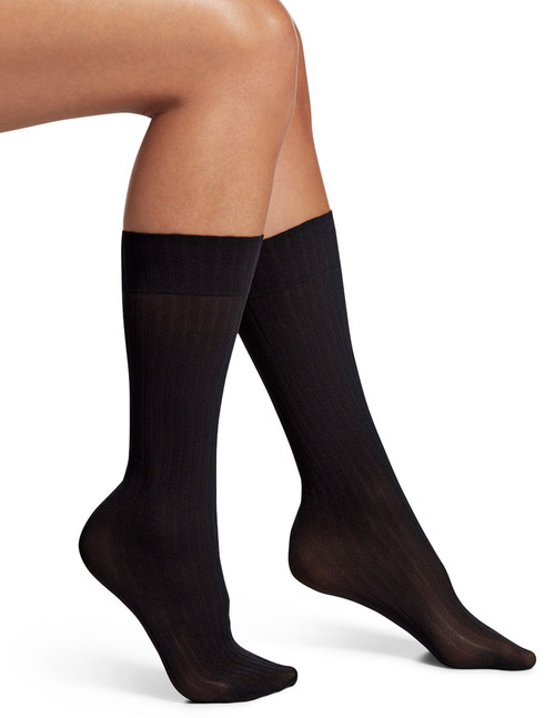Wide Ribbed Trouser Socks
