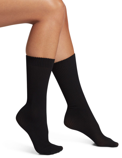 Flat Knit Rib Diamond Trouser Socks 3 Pair Pack