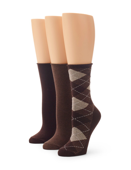 Cotton Argyle Jean Sock 3 Pair Pack