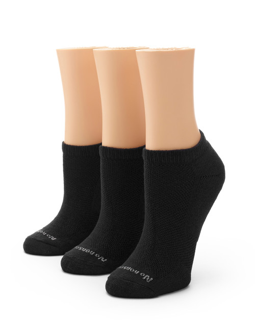 Soft & Breathable Cushioned No Show Socks 3 Pair Pack