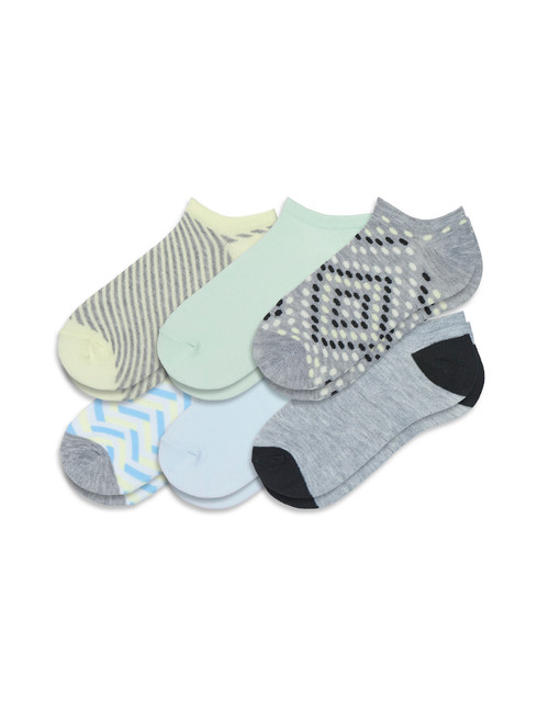Color Expressions Patterned No Show 6 Pair Pack