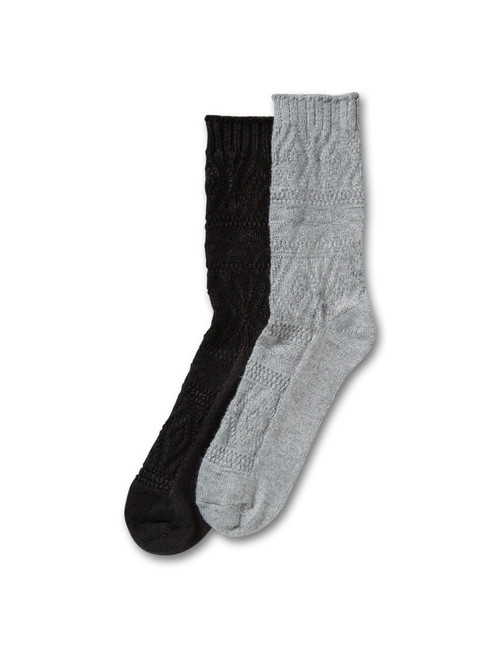 Diamond Pattern Crew Socks 2 Pair Pack