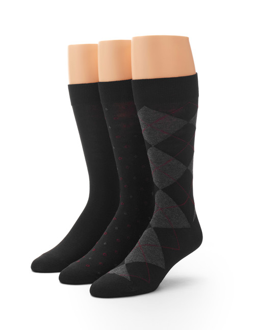Men's Dress Fashion Sock 3 Pair Pack