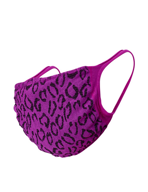 Youth 2pk Face Mask, Magenta Leopard