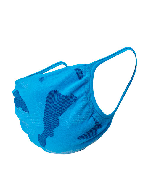Youth 2pk Face Mask, Neon Blue Camo