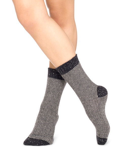 Mini Stripe Pattern Boot Sock