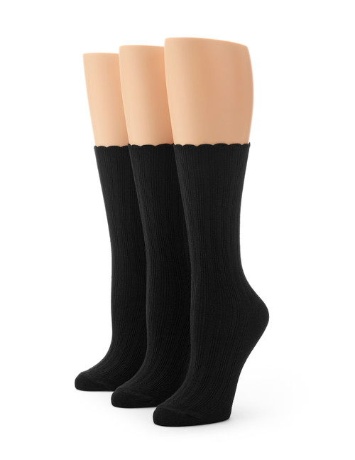 Scallop Pointelle Sock - 3 Pair Pack
