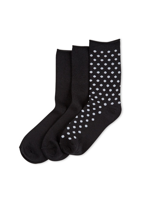 Cotton Dot Jean Sock