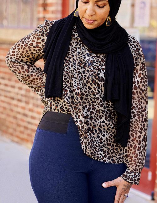 ExpanTech Faux Denim Legging