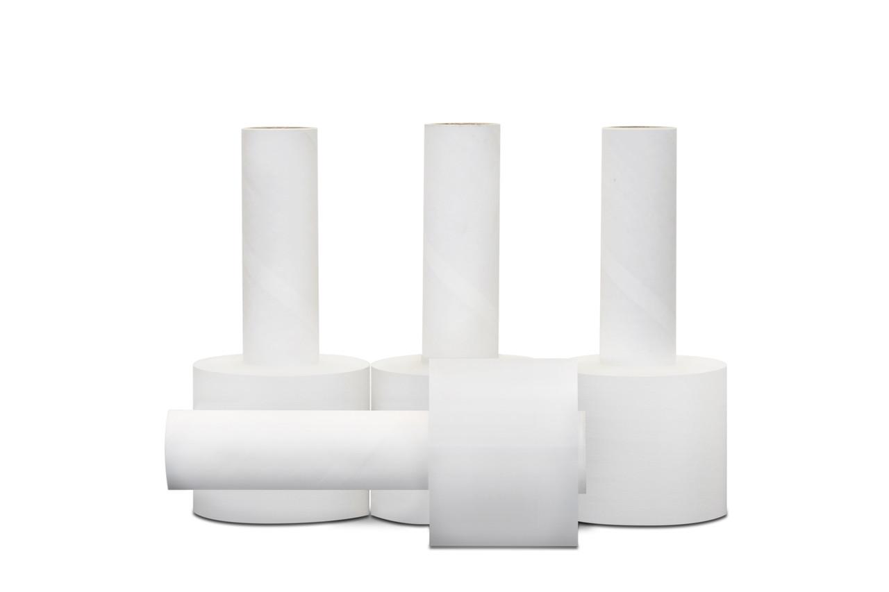 """Clear Stretch Wrap - 5"""" x 1,000 FT Rolls x 80 gauge stretch wrap with handle (STR5X80X1000) - 12/case"""