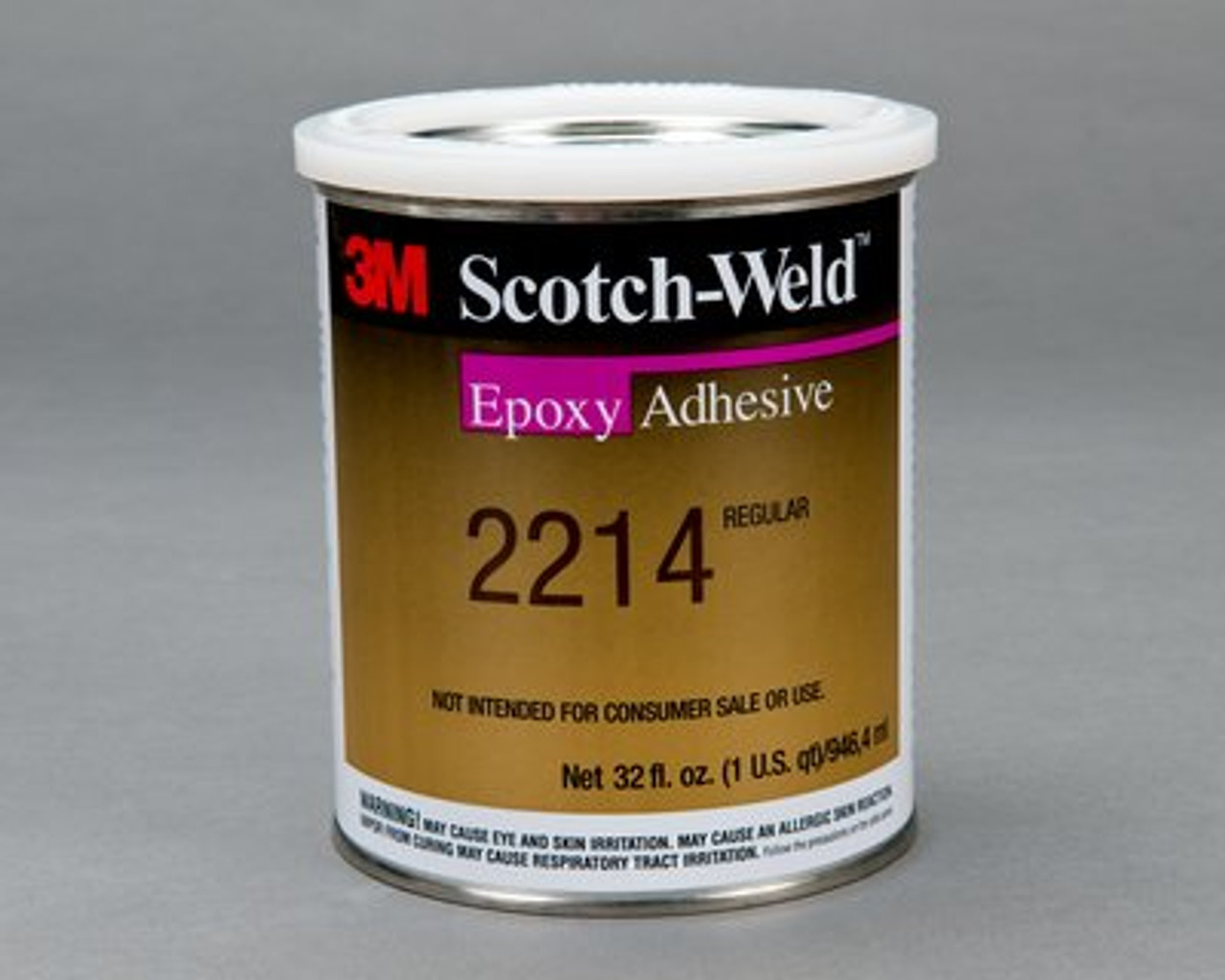 3M™ Scotch-Weld™ Epoxy Adhesive 2214 Regular Gray, 1 qt *NON RETURNABLE ITEM. ADDITIONAL SURCHARGE APPLIES TO THIS ITEM. CHARGE WILL NOT SHOW ON INITIAL CONFIRMATION. SEE PRODUCT DESCRIPTION FOR MORE INFO*