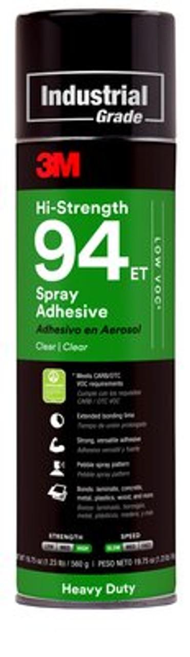 3M™ Hi-Strength 94 ET Spray Adhesive- Low VOC 24 fl oz Can (Net Wt 19.8 oz)
