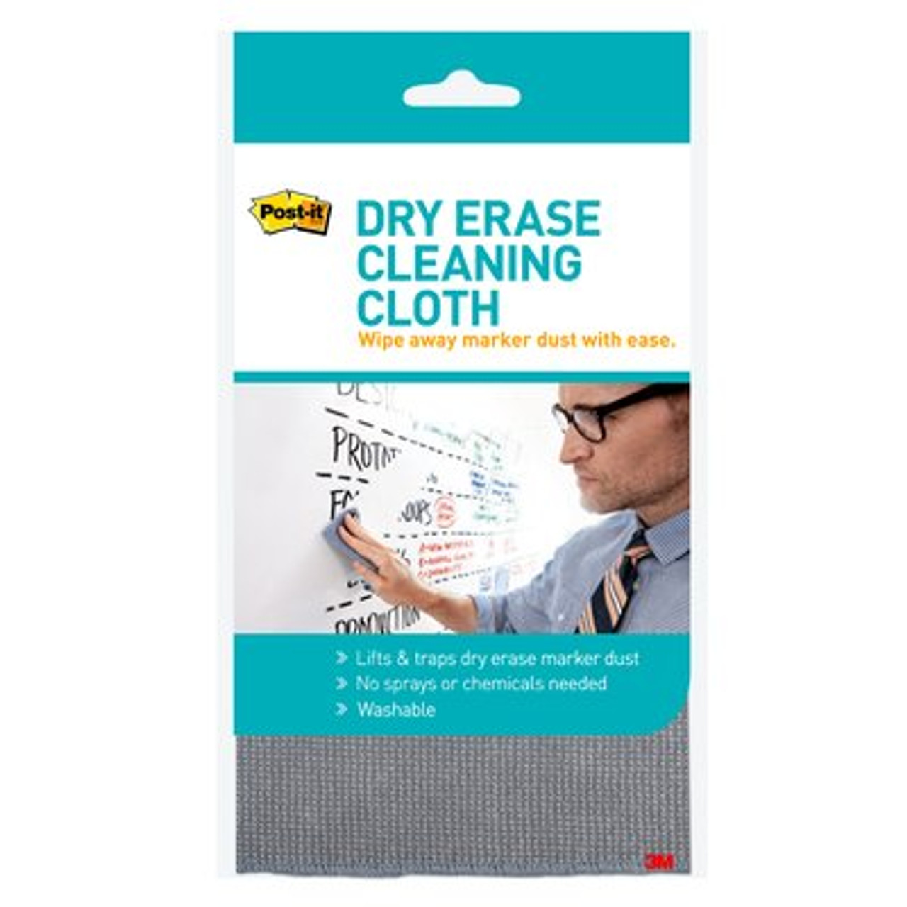 Post-it® Dry Erase Cleaning Cloth DEFCLOTH, 1 Cloth