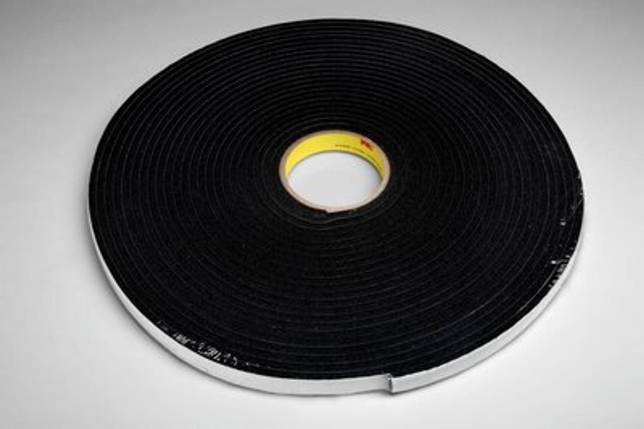 3M™ Vinyl Foam Tape 4504 Black, 3/8 in x 18 yd
