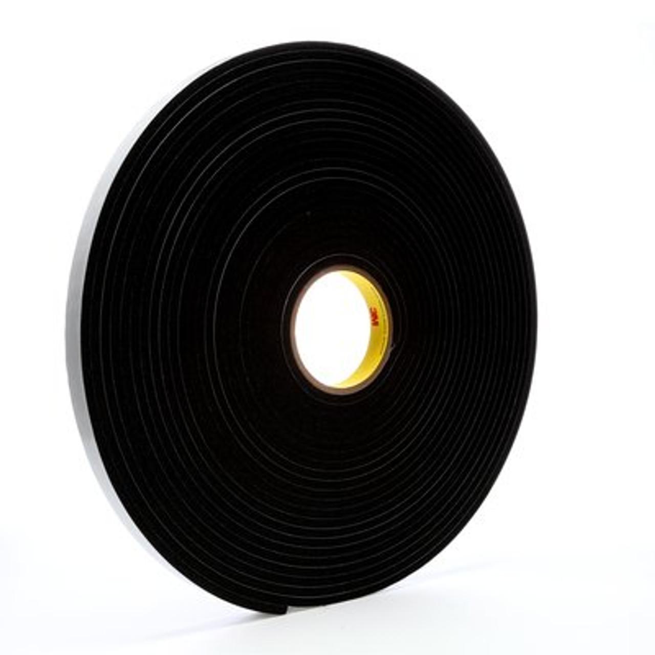 3M™ Vinyl Foam Tape 4504 Black, 3/4 in x 18 yd