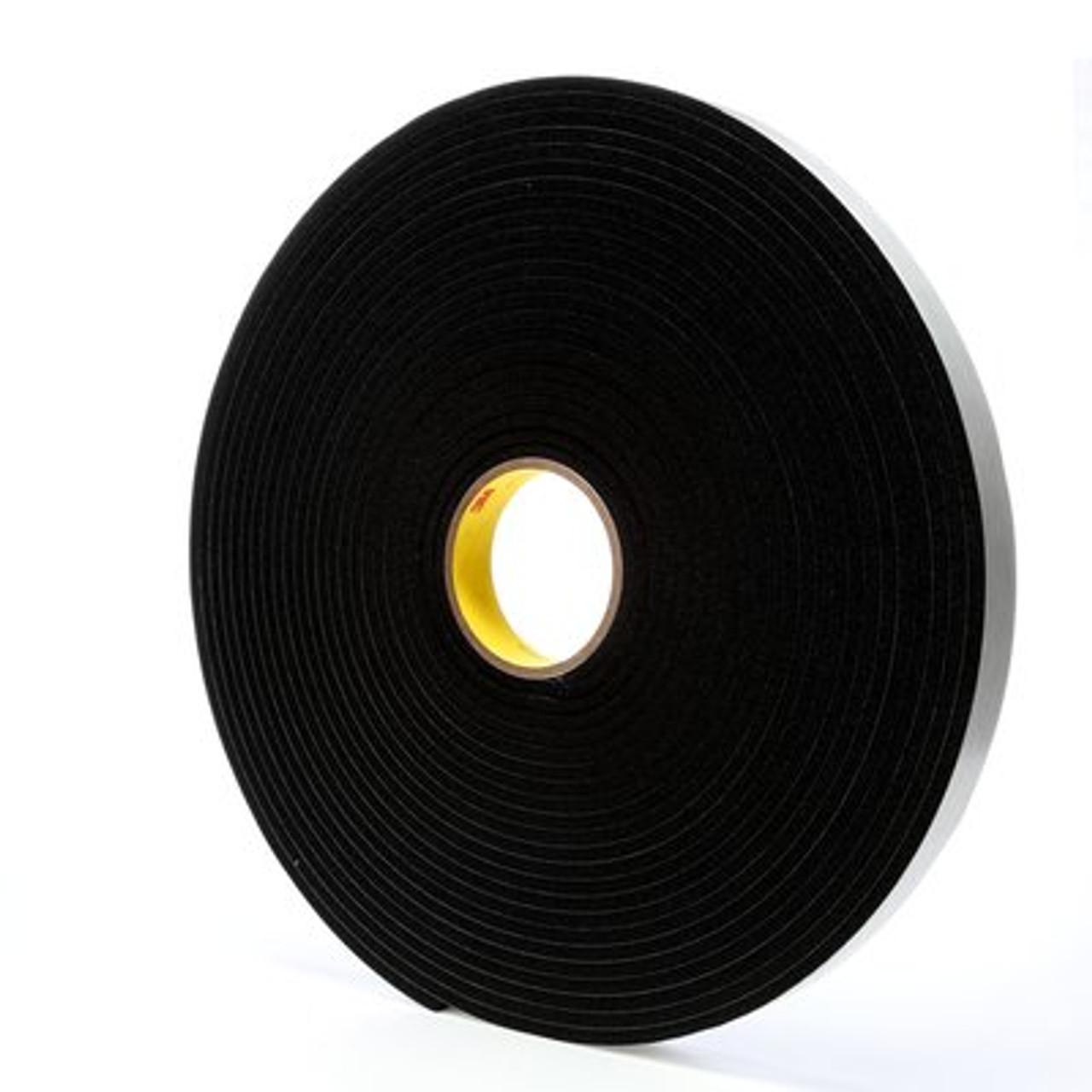 3M™ Vinyl Foam Tape 4504 Black, 1 in x 18 yd