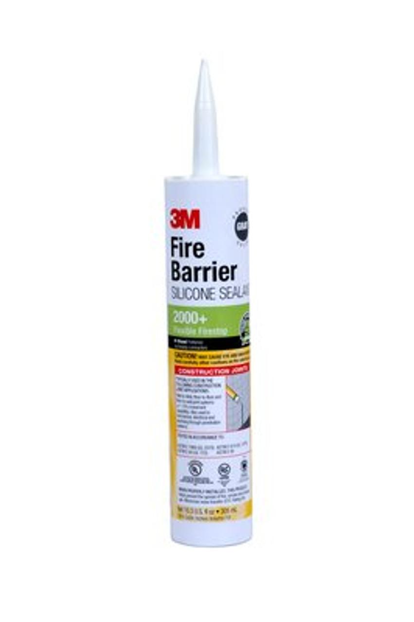 3M™ Fire Barrier Silicone Sealant 2000+, 10.3 fl. oz., Cartridge, 12/case