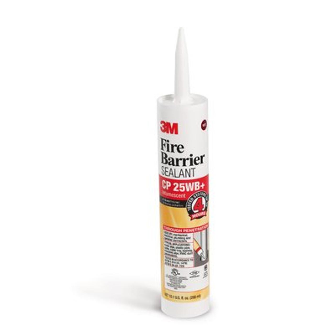 3M™ Fire Barrier Sealant CP 25WB+, 10.1 fl. oz., Cartridge, 12/case