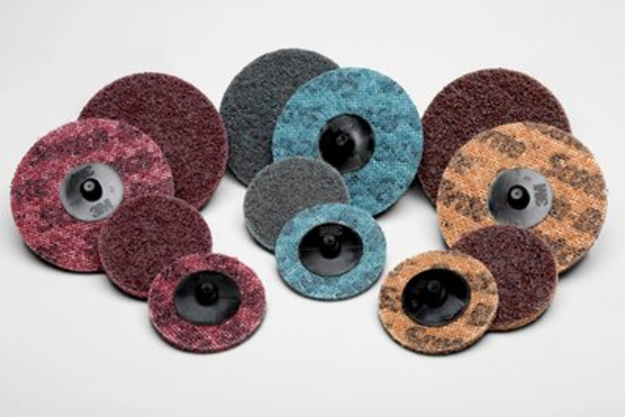 Scotch-Brite™ Roloc™ AL Surface Conditioning Disc TR, 4 in x NH A MED, 25  100 per case