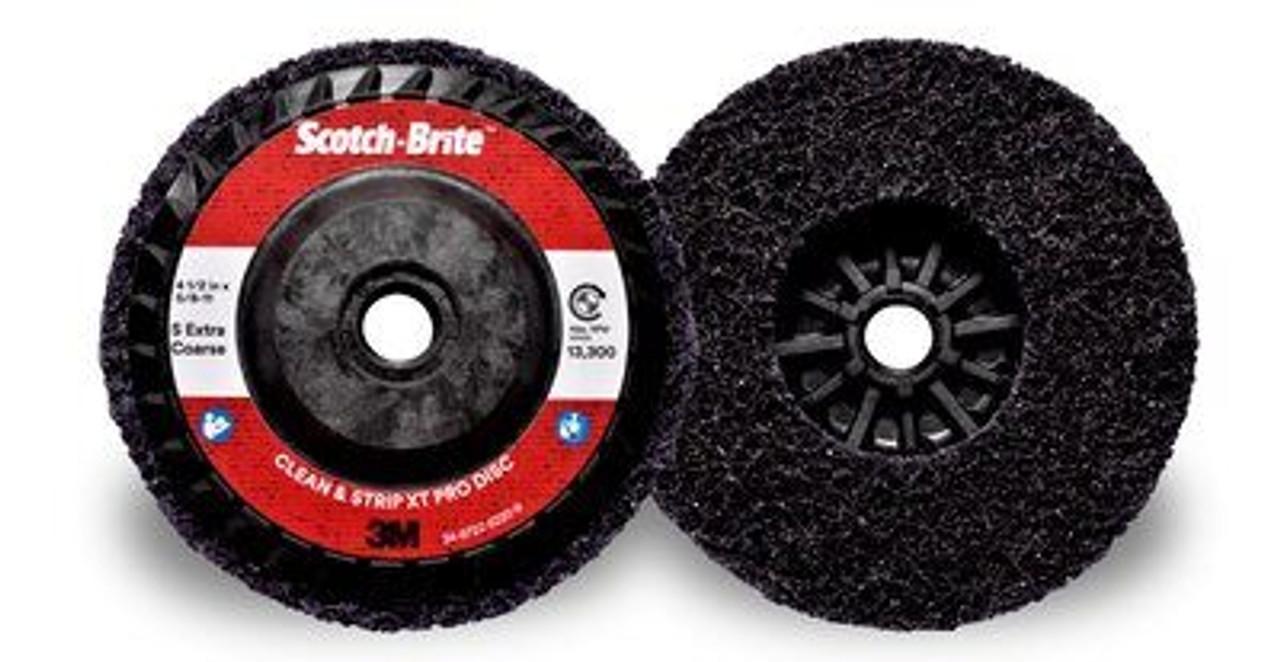 Scotch-Brite™ Clean and Strip XT Pro Disc, T27 Quick Change, 4-1/2 in x 5/8 in-11, S XCS, 10 per case