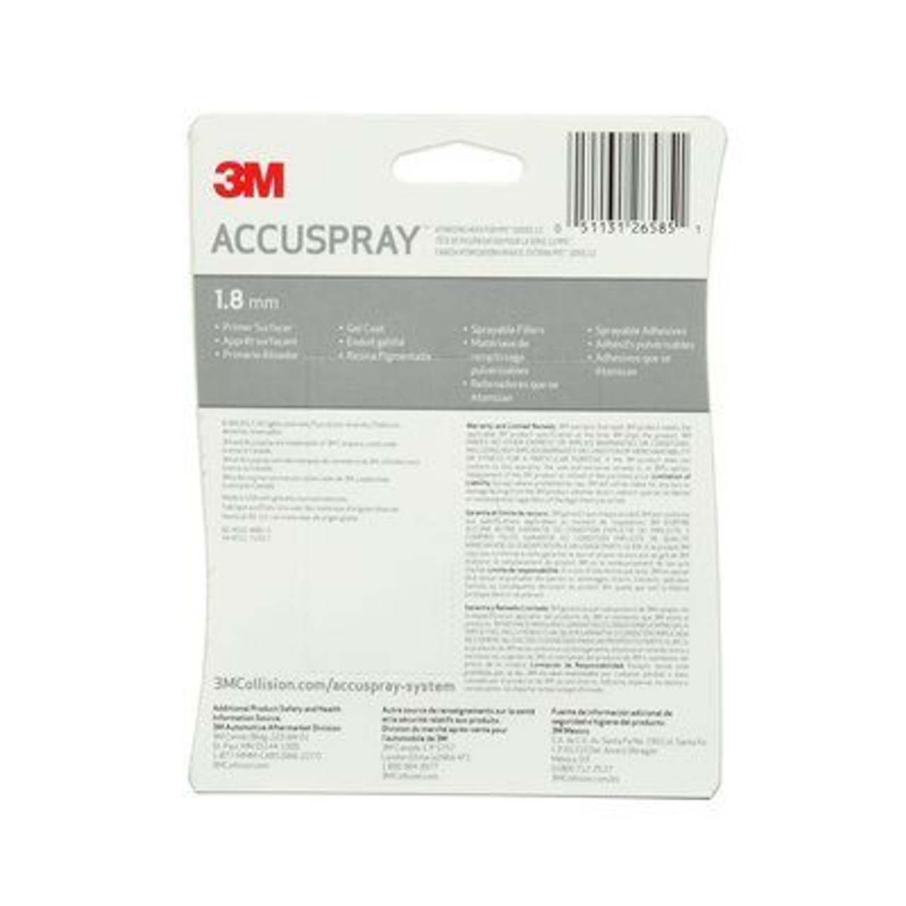 3M™ Accuspray™ Atomizing Head Refill Pack for 3M™ PPS™ Series 2.0, 26585, Clear, 1.8 mm, 5 per case