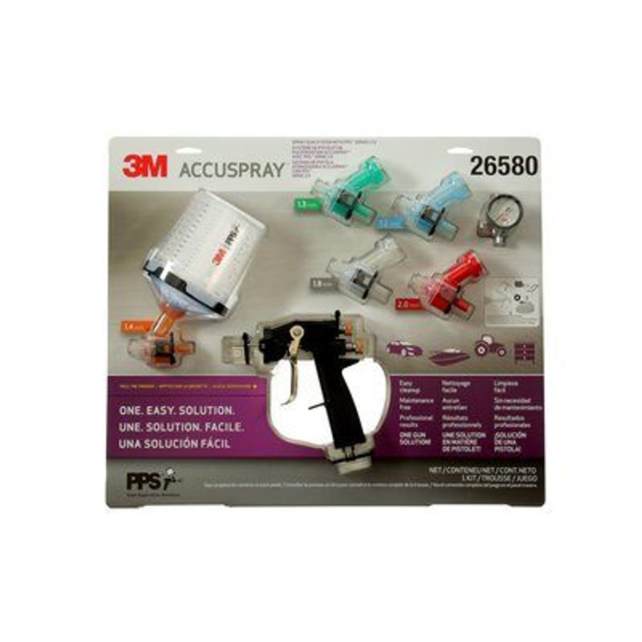 3M™ Accuspray™ ONE Spray Gun System with PPS™ Series 2.0 Spray Cup System, 26580, 2 kits per case