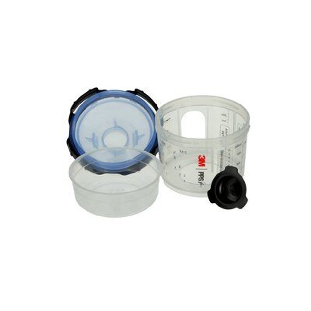 3M™ PPS™ Series 2.0 Spray Cup System Kit, 26328, Micro (3 fl oz, 90 mL), 125 Micron Filter, 1 kit per case