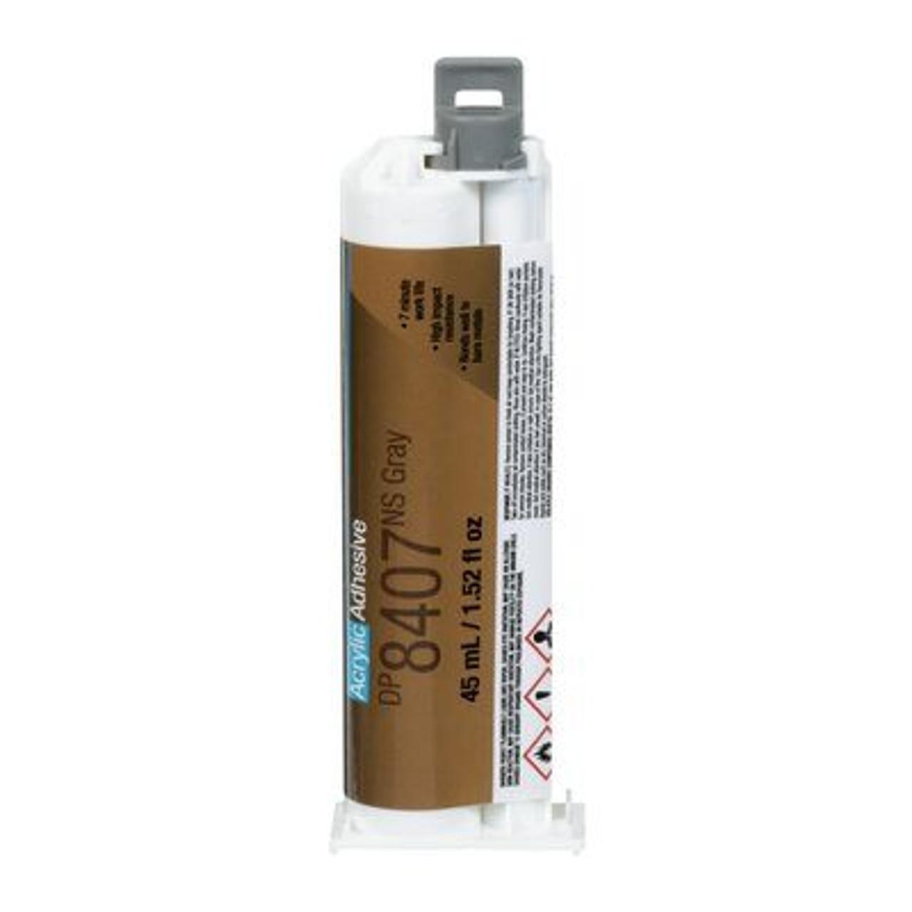 3M™ Scotch-Weld™ Metal Bonder Acrylic Adhesive DP8407NS, Gray, 45 mL Duo-Pak, 12/case