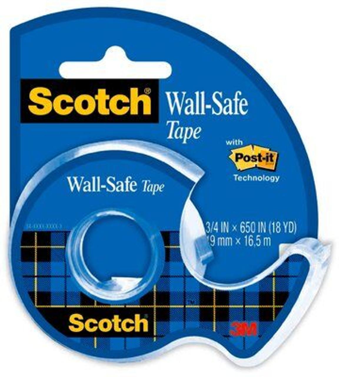 Scotch® Wall-Safe Tape, 183, 3/4 in x 650 in (19 mm x 16.5 m)