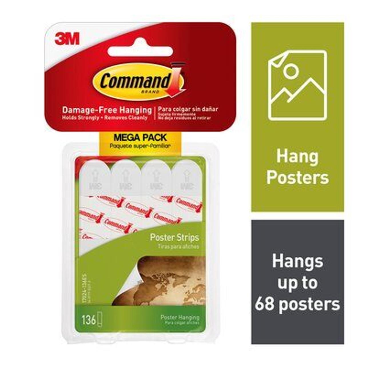 Command™ Poster Strips Mega-Pack, 17024-136ES, 136 Poster Strips