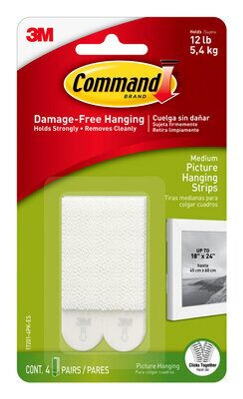 Command™ Medium Picture Hanging Strips 17201-4PK-ES