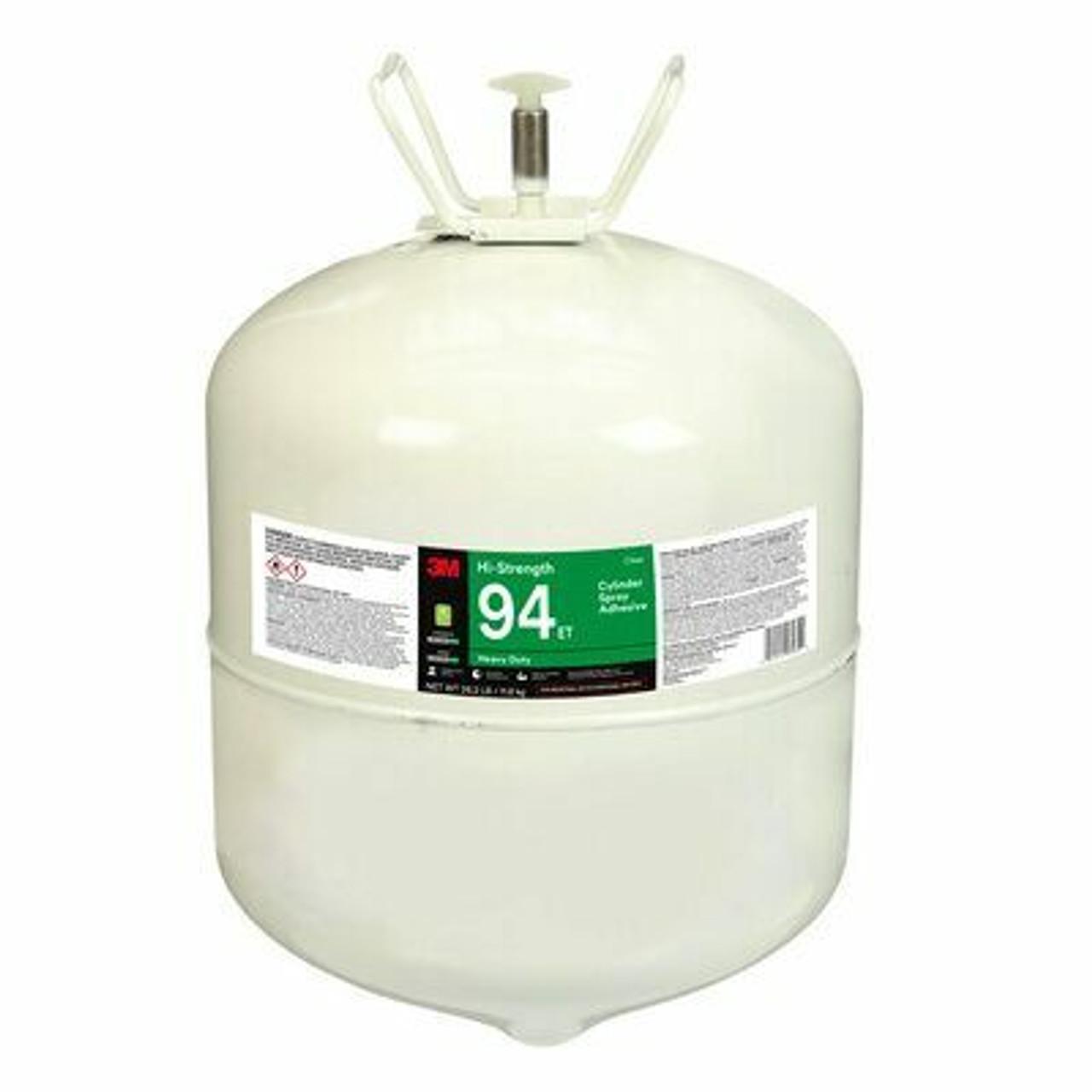 3M™ Hi-Strength 94 ET Cylinder Spray Adhesive, Red, Large Cylinder (Net Wt 26.2 lb)