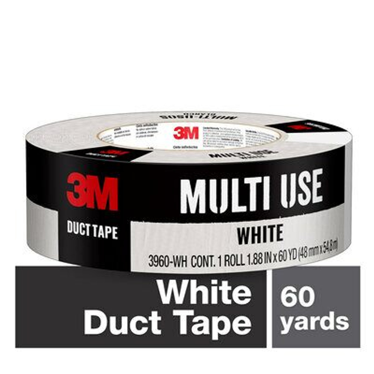 3M™ White Duct Tape 3960-WH 1.88 in x 60 yd (48 mm x 54,8 m)