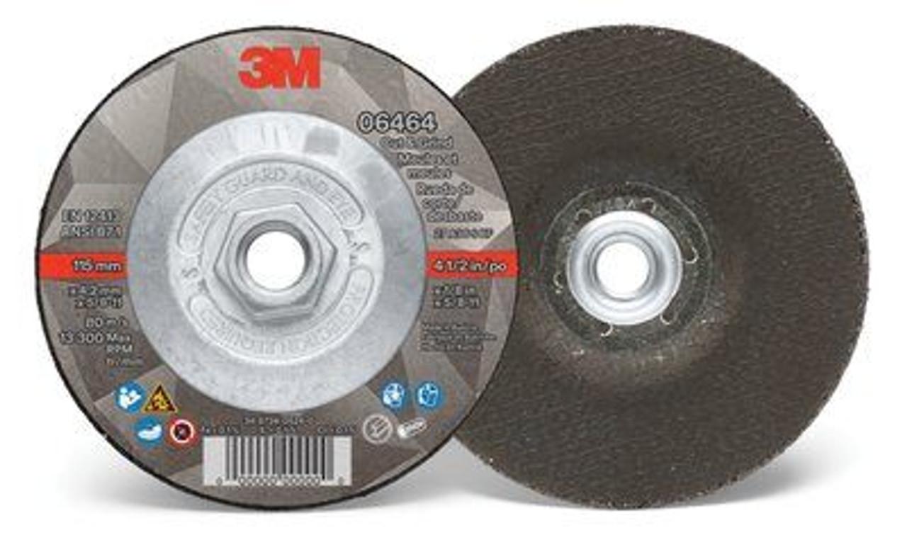 "3M™ Cut & Grind Wheel, 06464, Type 27, 4-1/2 in x 1/8 in x 5/8""-11, Quick Change"