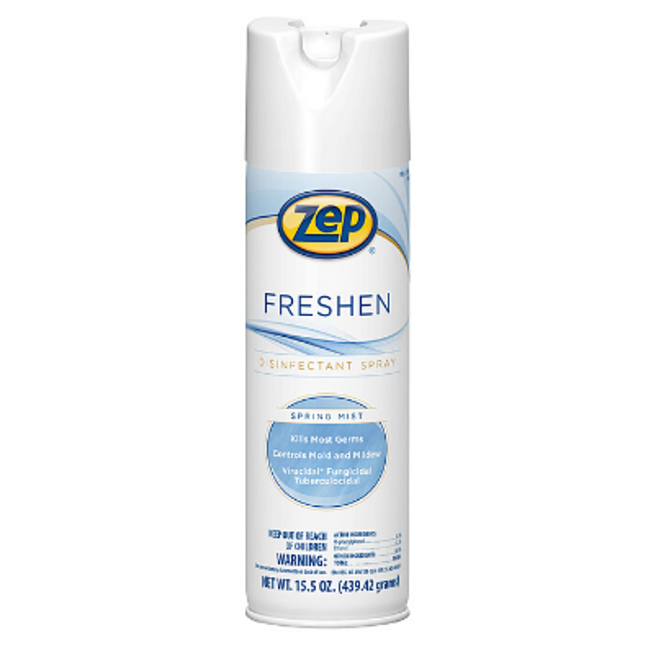 Zep Freshen Disinfectant Spray, 15.5 oz, Aerosol Can, Fresh Linen