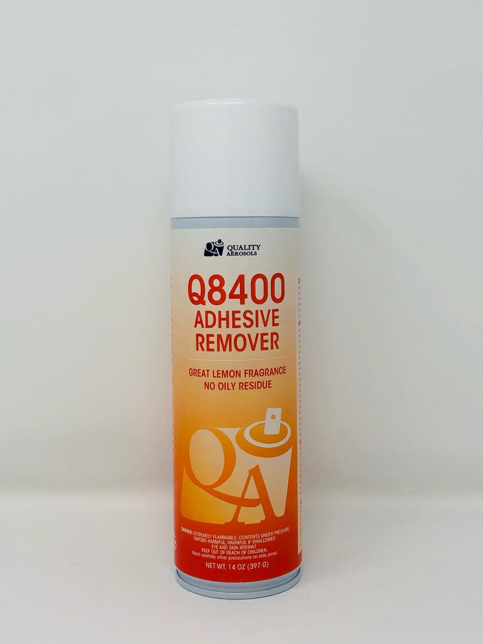 Quality Aerosols Q8400 Solvent Based Adhesive Remover 20 fl oz (Net Wt 14 fl oz)