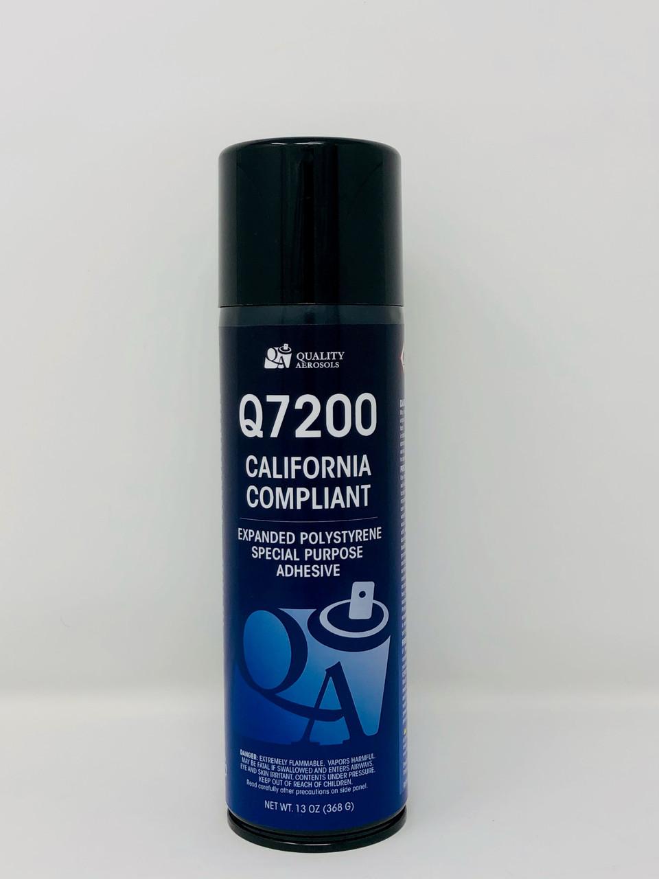 Quality Aerosols Q7200 CA Adhesive 20 fl oz (Net Wt 12 fl oz)