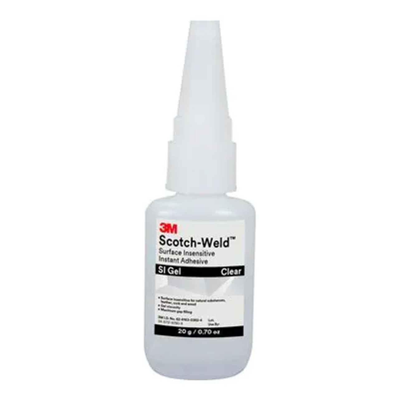 3M™ Scotch-Weld™ Surface Insensitive Instant Adhesive SI Gel, Clear, 20 Gram Tube